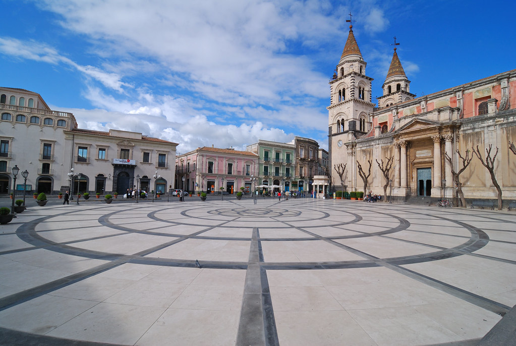 Acireale Sicilia Piazza Duomo The Paving Of The