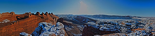 Snowy Delicate Arch Panorama | by Jackan!