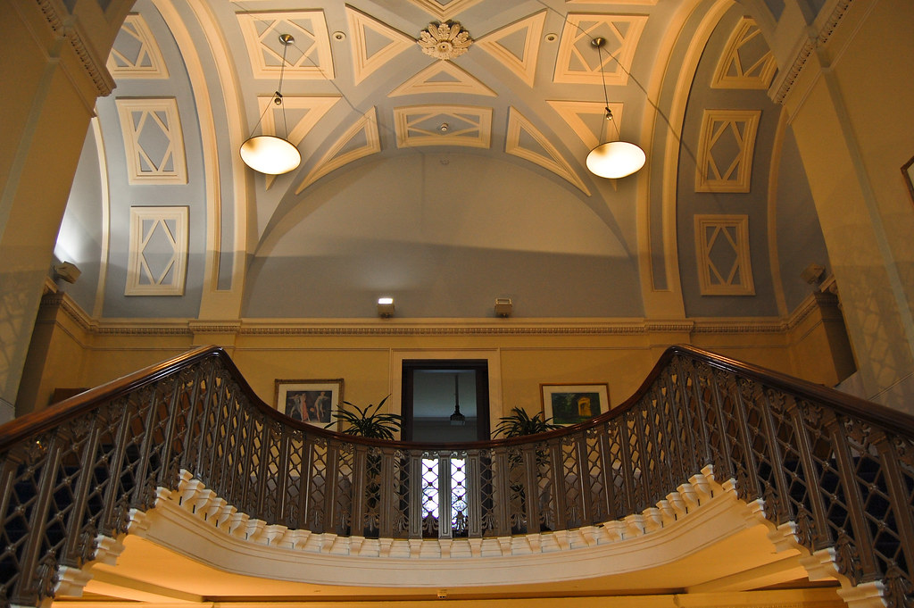 Grand Foyer And Rear Of Auditorium Of Allen Place In Montreal : The wonderful ceiling wool merchant john goodman built