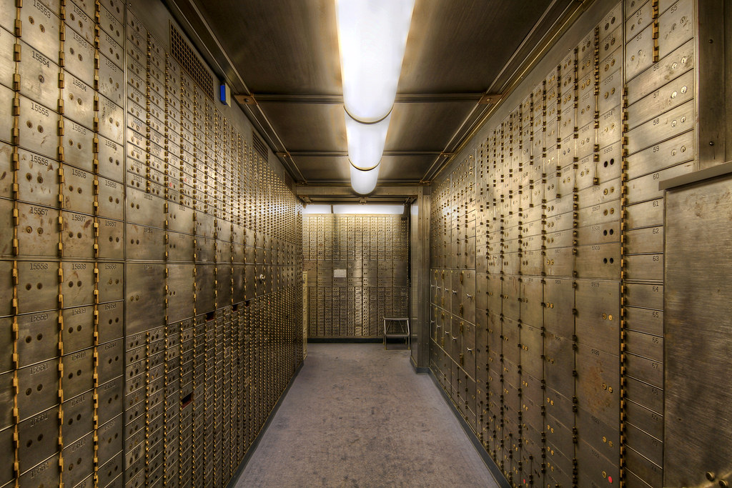safe deposit boxes in the basement of the historic us nati