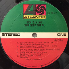BEN E. KING:SUPERNATURAL(LABEL SIDE-A)