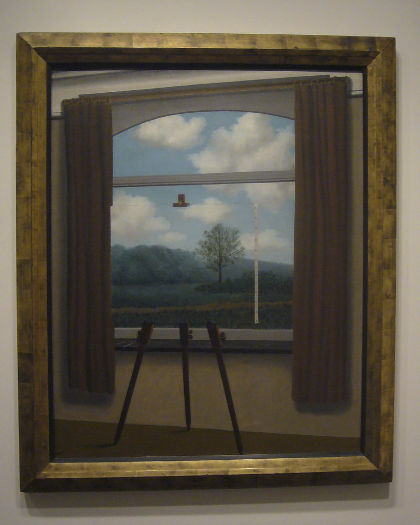 the human condition The human condition, 1933 by rene magritte, brussels pre-war and war years surrealism symbolic painting.