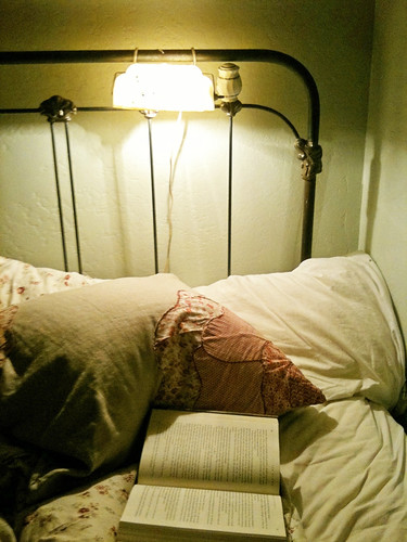 reading in bed | by heylucy