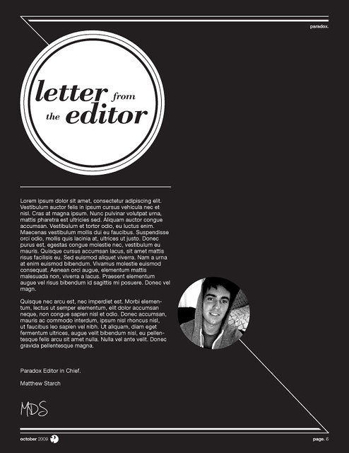 Paradox magazine letter from the editor publication desig flickr paradox magazine letter from the editor by matthewstarch spiritdancerdesigns Images