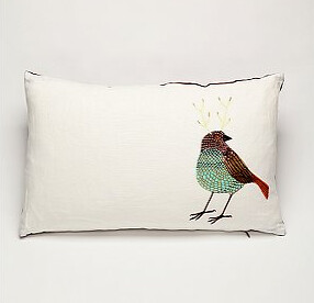 Birdalope linen pillow | by Geninne