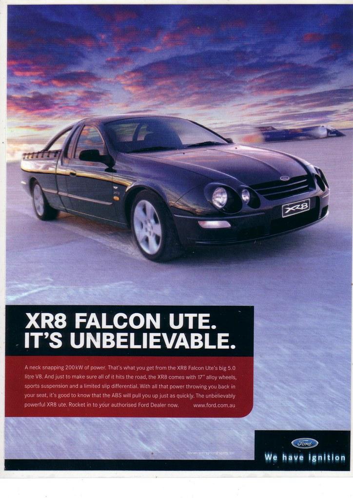 2000 Ford AU Falcon XR8 Series 2 Ute Ad | AU Falcon XR8 ...