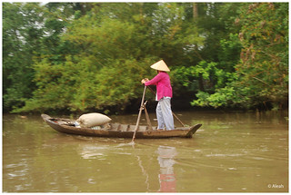 boat woman in the mekong river | by aleah (philippines)