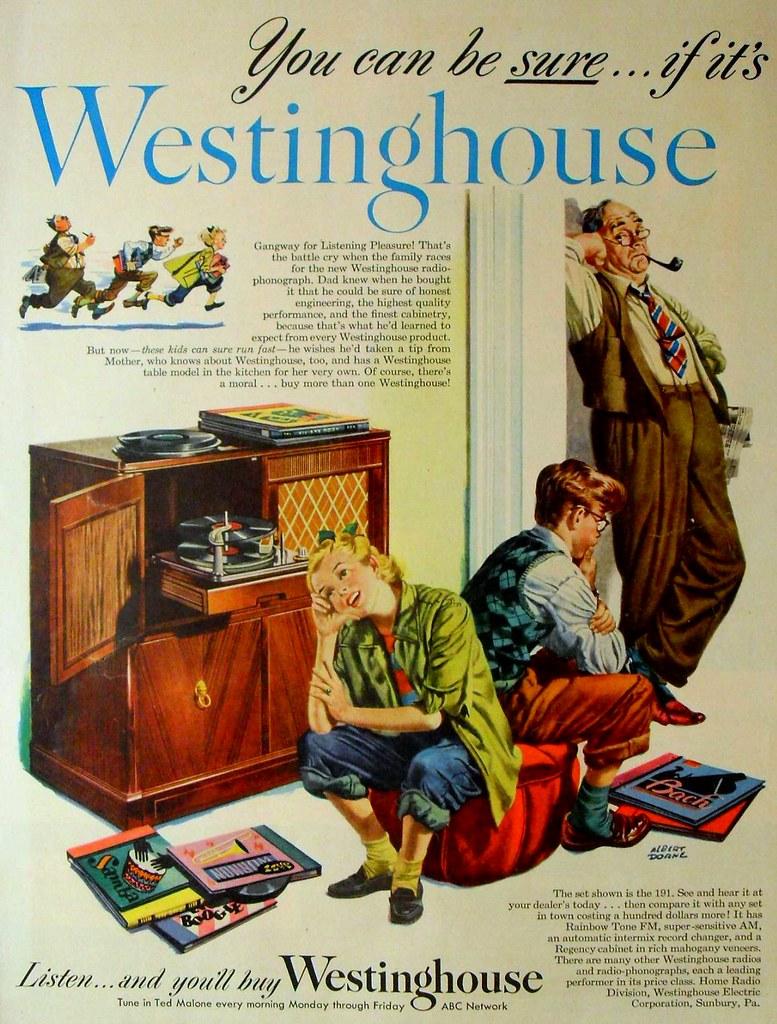 1940s westinghouse vintage advertisement illustration phon - Electrodomesticos retro ...