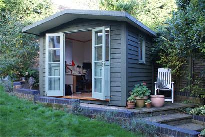 Design studio home office inspiration posted via email for Garden workshop designs
