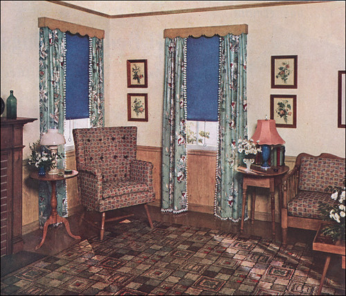 1930s Home Decor: Advertisement By The Window Shade