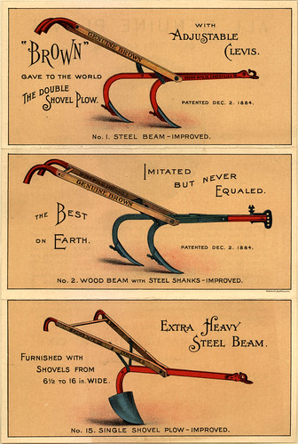 Brown Double Shovel Plow ad, 1884 | by Double--M