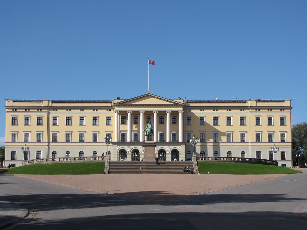 Slottet Oslo Norway Palace in Oslo Norway