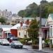 City Streets on a rainy day in Dunedin, New Zealand