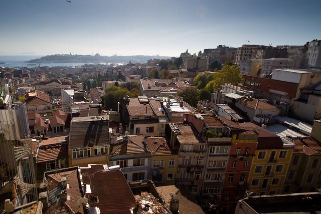 View Of Pera Beyoglu Shot From The Litera Restaurant Flickr
