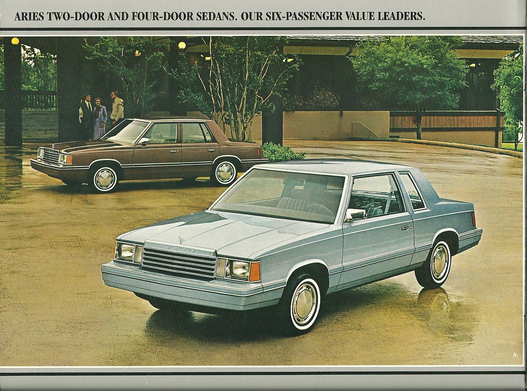 Dodge Aries By Request K Car Advertisng From The Eightie Flickr