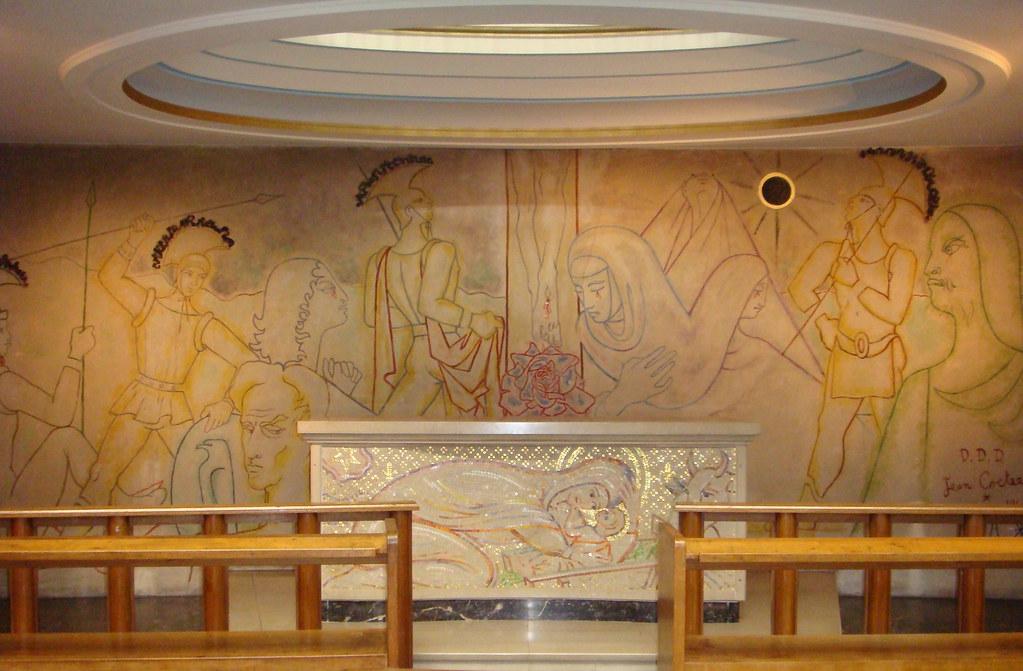 Jean Cocteau mural Notre Dame de France church London Flickr