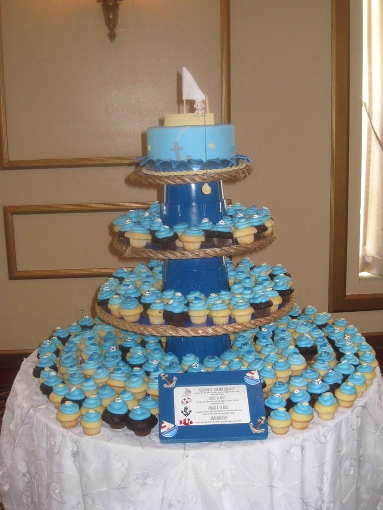 Nautical Themed Baby Shower Cupcake Tower Nautical
