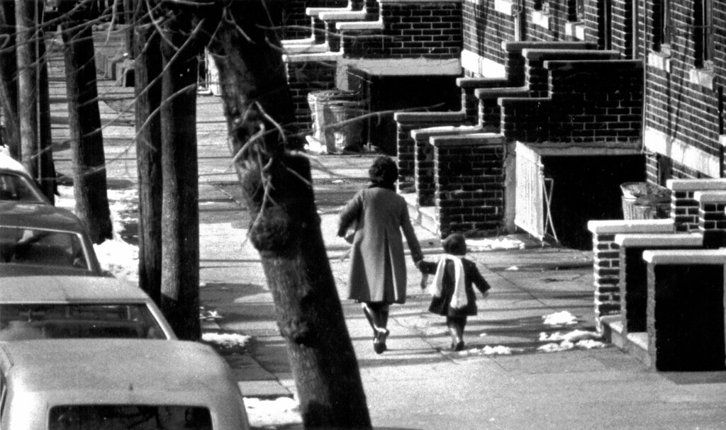 Mother & Daughter Winter Brooklyn Street 1976 70s - 55th S ...
