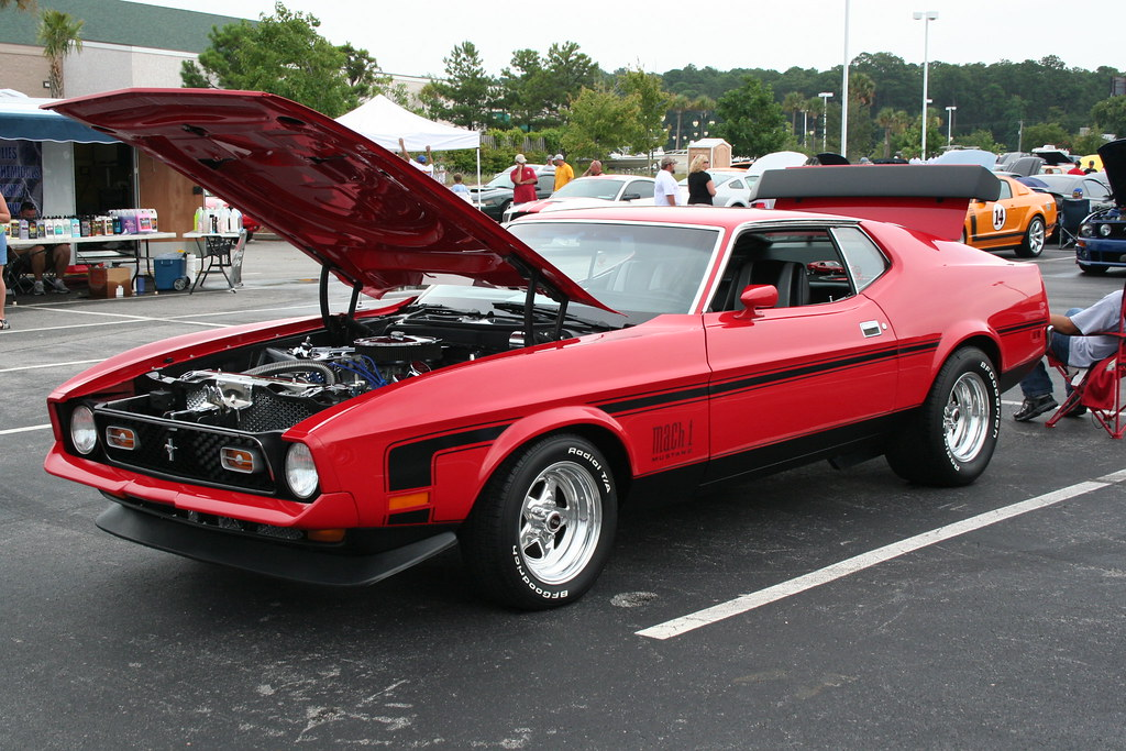 1971 Mustang Mach 1 In Candy Apple Red Charlie J Flickr