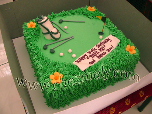 Golf Field Birthday Cake Amelia Hadin Flickr