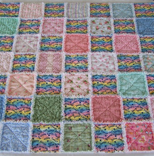 VINTAGE CHENILLE RAG QUILT | Southern Stitches | Flickr