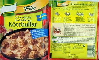 Fertigprodukt für Schwedische Hackbällchen