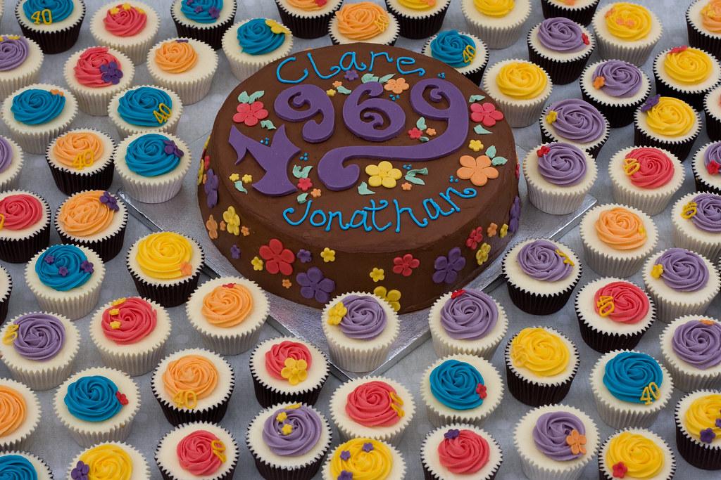 Surprising 40Th Birthday Party Cakes Littlebirdbakery Co Uk Flickr Funny Birthday Cards Online Aeocydamsfinfo