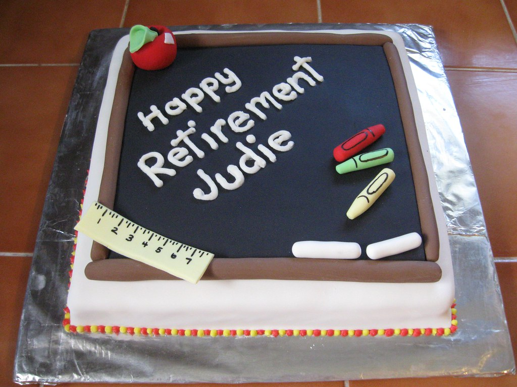 Cake Designs For Teachers : Teacher s Retirement Cake Jeannette s Custom Cakes Flickr