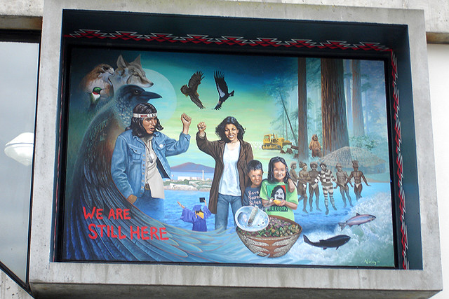 Native american history mural at sfsu bluecinema flickr for Mural history