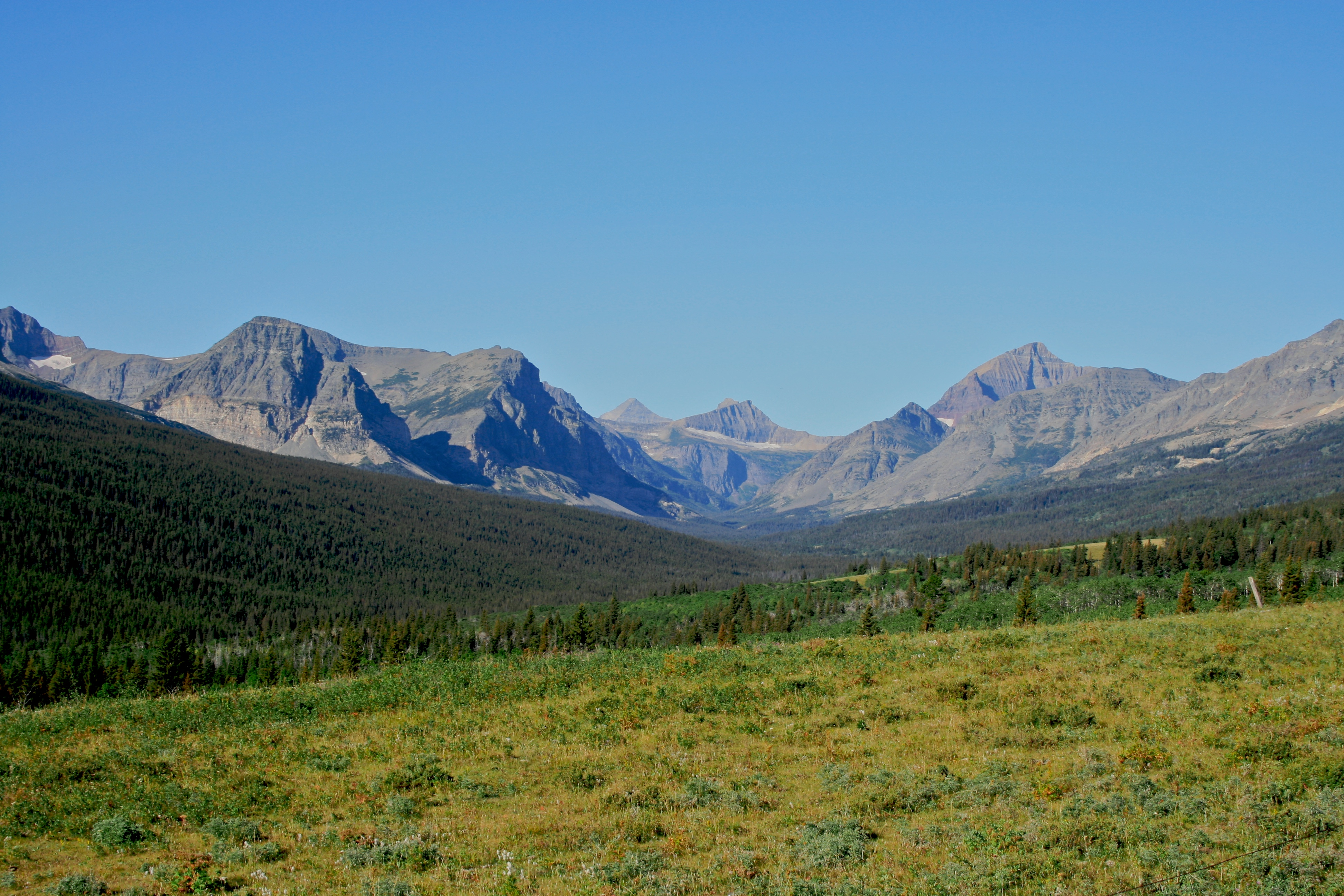 there lies the peaks of Glacier National Park
