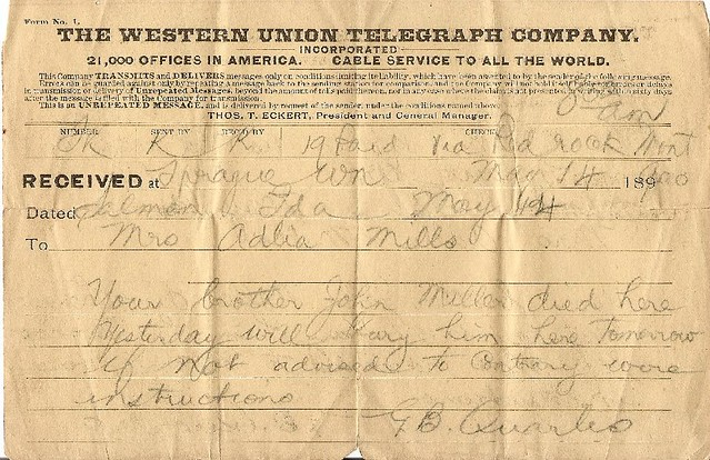 1900 western union telegram 110 year old telegram informin flickr. Black Bedroom Furniture Sets. Home Design Ideas