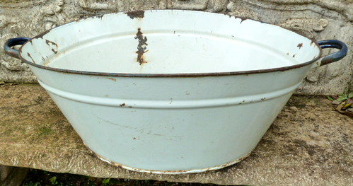 e238n late victorian early c20 baby 39 s bathtub of enamel flickr. Black Bedroom Furniture Sets. Home Design Ideas