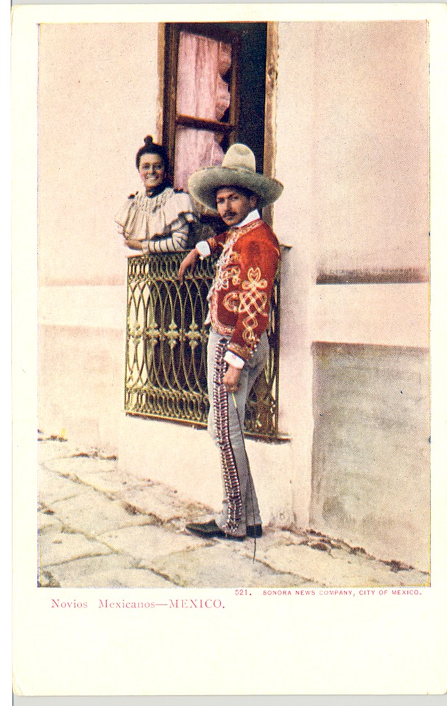 Vintage Postcard Mexican Sweethearts