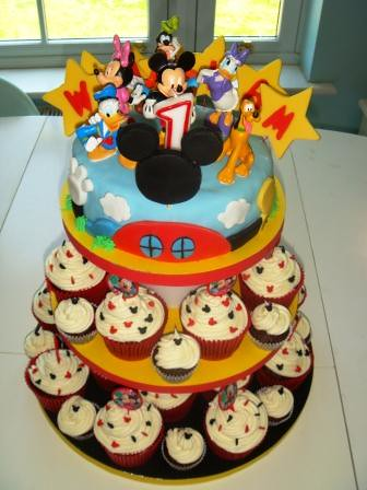 Mickey Mouse Clubhouse 1st Birthday Cupcakes