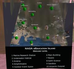 NASA eEducation island map | slurl.com/secondlife/NASA ...