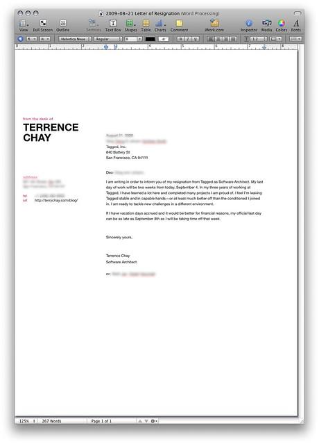 Resignation Letter Apache