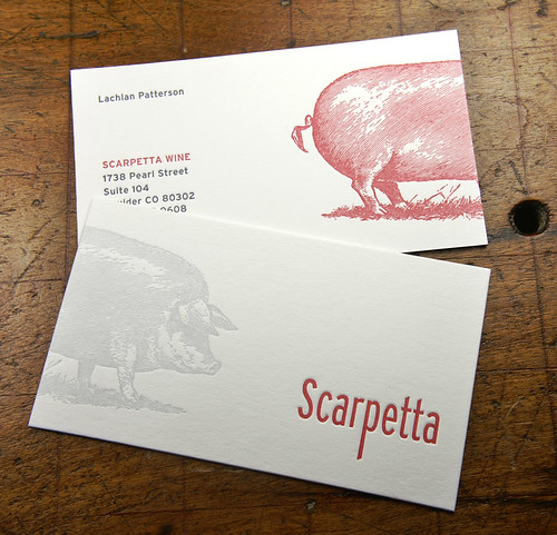 Letterpress Business Card: Scarpetta | by smokeproof