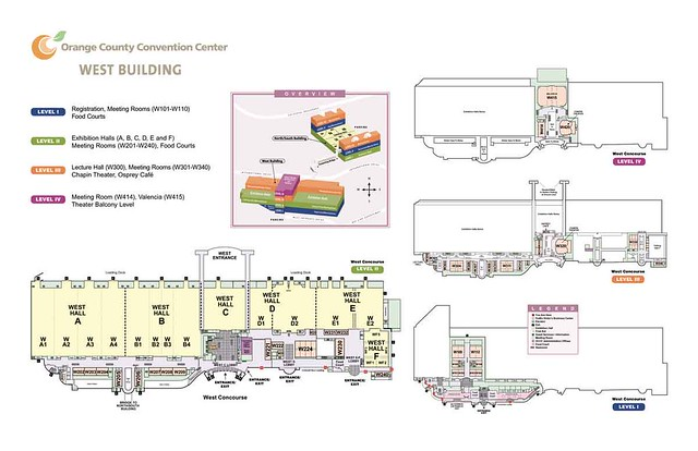 Map Of The West Concourse This Map Depicts The Layout Of T Flickr - Orange county convention center map