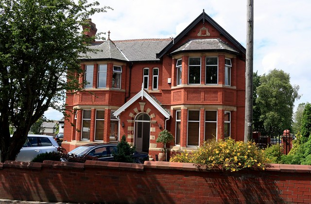 Victorian Edwardian Red Brick Building Pleasington Villag
