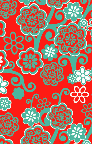 Papel regalo flores hojas belpapel flickr - Papeles de vinilo para pared ...