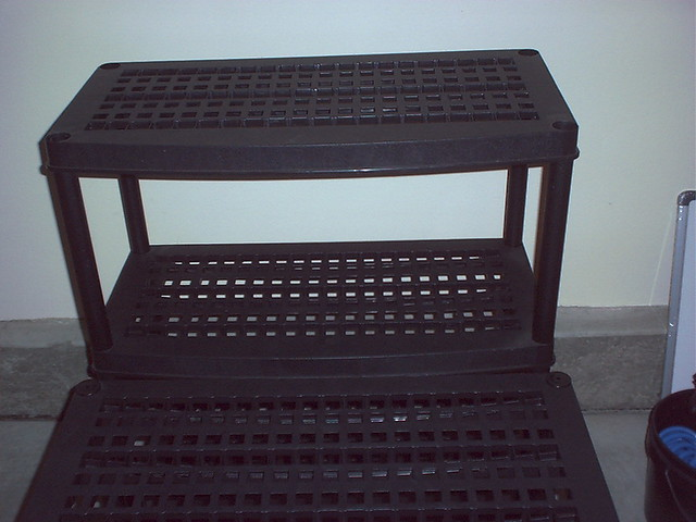 4Tier HeavyDuty Plastic Shelves Black STACKABLE VIEW Flickr