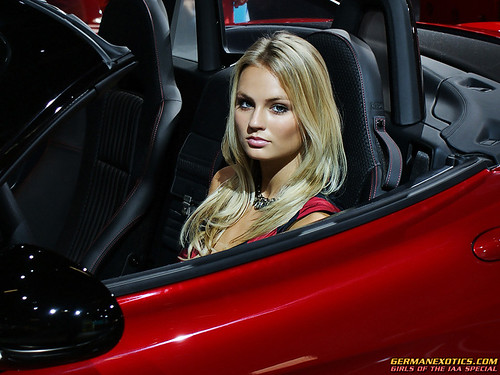 Blonde Girl in hot Italian car | by GERMANEXOTICS.COM