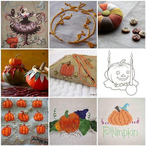 Embroidery Inspiration - Pumpkins | by binah06