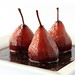 Pears in red wine reduction