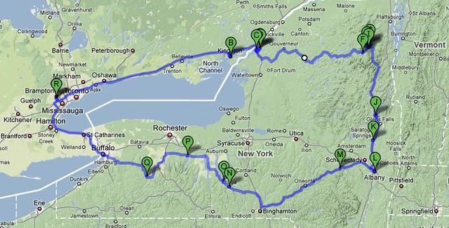 New York tour map
