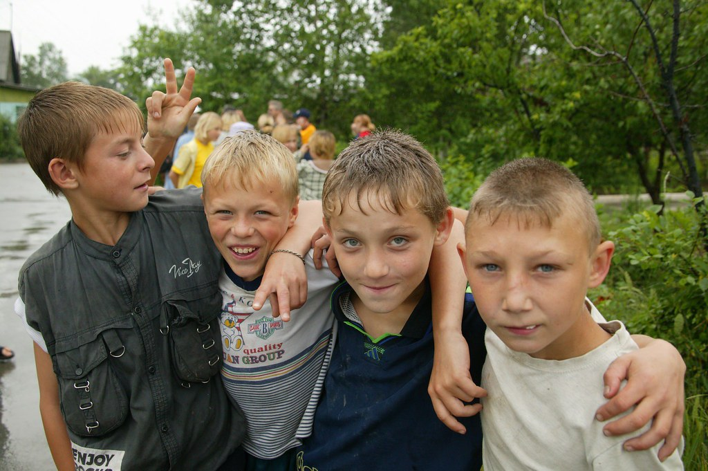 Russian Children Orphanage Russian orphan boys by...