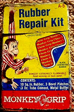 Free And For Sale >> 1950s (?) Monkey Grip rubber repair kit | another wacky