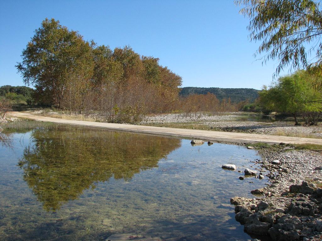 West Nueces River Crossing at Nueces River Road in remote