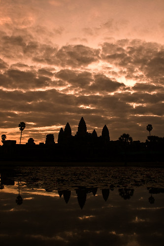 Dawn over Angkor Wat | by violinconcertono3