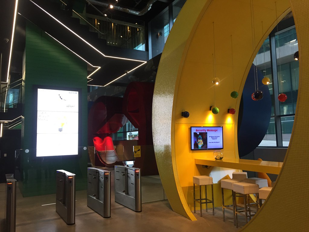 Googles huvudkontor i Dublin entré